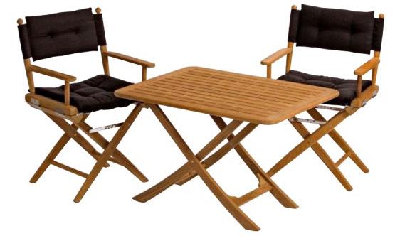 Table teck lattes 90 x 70 cm for Baton de chaise synonyme